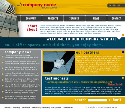Website Template 001