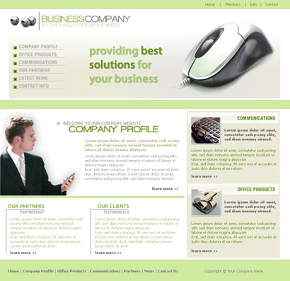 Website Template 037